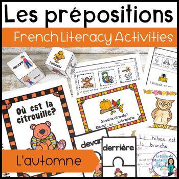 L'automne: Autumn (Fall) Themed Preposition Mini-Unit in French