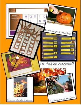 L'automne - Complete Mini-unit with SmartBoard Lessons, Worksheets, Activities