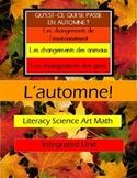 L'automne - Complete Mini-unit with SmartBoard Lessons, Worksheets, Activities