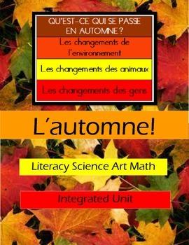 L'automne - Complete Mini-unit with SmartBoard Lessons, Wo