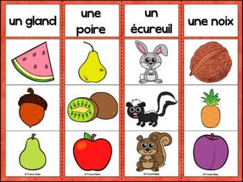 L'automne - Ensemble 2 jeux d'association - French Fall