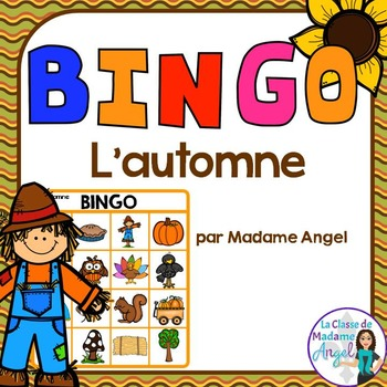 L'automne:  Fall (Autumn) Themed BINGO Game in French