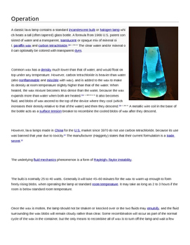 Lava Lamp Lab