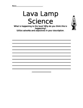 Lava Lamp Science Matter Experiment Observation