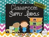 Editable Labels {Chalkboard Chevron Polka Dots}