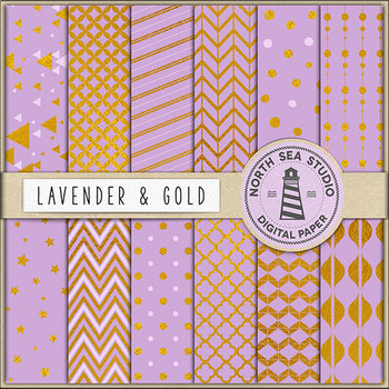 Lavender And Gold Paper