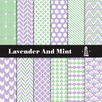 photograph relating to Printable Backgrounds named Lavender And Mint Electronic Paper Pack Sbook Paper Printable Backgrounds
