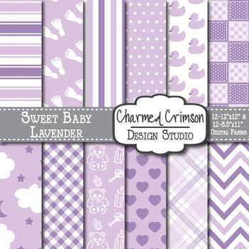 Lavender Baby Digital Paper 1096