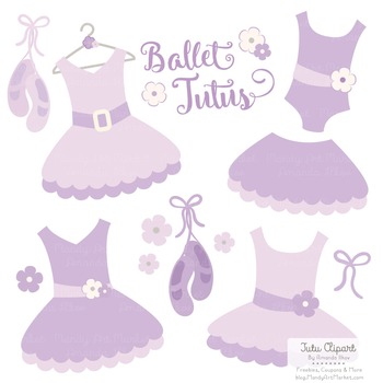 Lavender Ballet Clipart - Ballet Tutus, Ballet Clipart