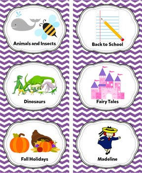 Lavender Classroom Library Labels & Individual Book Labels {Editable}
