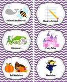 Lavender Classroom Library Labels & Individual Book Labels