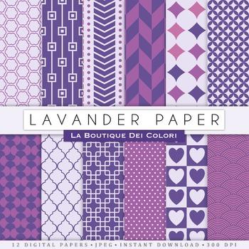 Lavender Digital Paper, scrapbook backgrounds