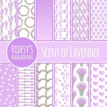 Lavender Herb / Flowers Background / Pattern / Digital Paper Commercial Use