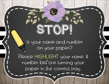 Farmhouse Lavender Love Highlight Your Name Poster