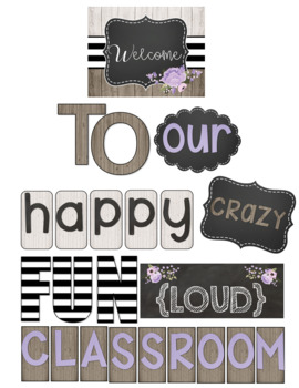 Farmhouse Lavender Love Welcome to Our Classroom Bulletin Board