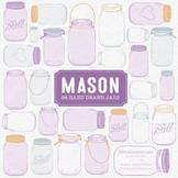 Lavender Mason Jars Clipart & Vectors - Ball Jar Clipart