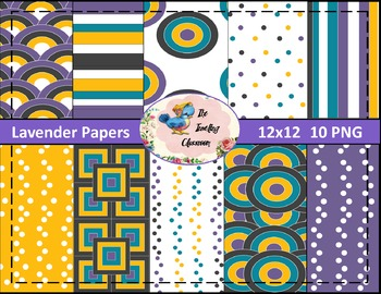 Lavender Papers (Digital Papers for Commercial Use)