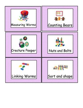 Lavender Polka Dot Preschool Classroom Labels
