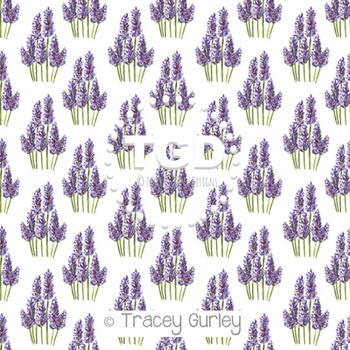 Lavender on White digital paper Printable Tracey Gurley Designs