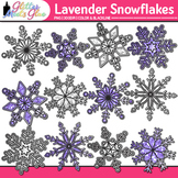 Lavender Snowflake Clip Art {Weather Graphics for Winter a