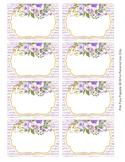 Lavender Watercolor Floral Bin Labels Classroom Decor