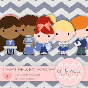 Lavender and Hydrangea - Little Readers Clip Art