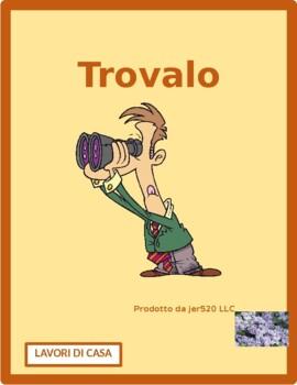 Lavori di casa (Chores in Italian) Find it Worksheet