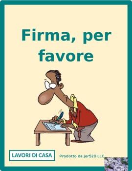 Lavori di casa (Chores in Italian) Firma per favore