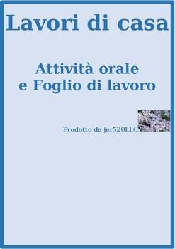 Lavori di casa (Chores in Italian) Speaking and writing activity