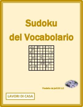 Lavori di casa (Chores in Italian) Sudoku
