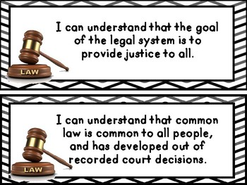 Law 30 I Can Statements With Teacher Checklists