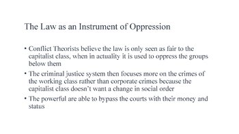 Law As Oppression PowerPoint, Guided Notes, and Completed Notes