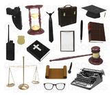 Law Clip Art - Lawyer Courtroom Digital Graphics