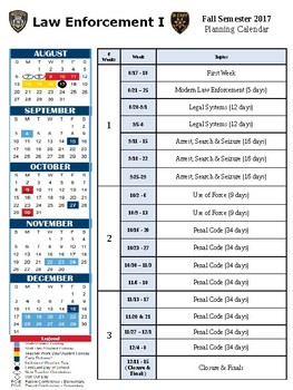 Law Enforcement I Year End Planner
