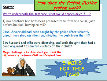 Law, Justice, Civil and Criminal Law