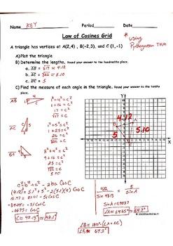 Law Of Cosines Homework