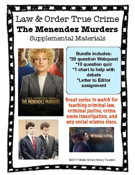 Law & Order True Crime: Menendez Murders Mini Series Supplemental Materials