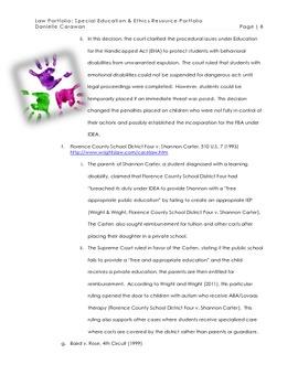 Law Portfolio Research Paper