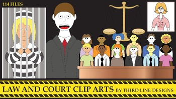 Law and Court Clip Arts