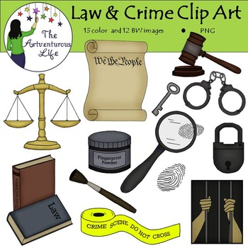 Law and Crime Clip Art