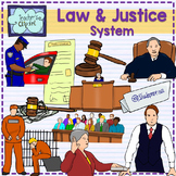 Law and Justice System Realistic Clip art - colored & line