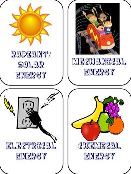 Law of Conservation of Energy - Card Game