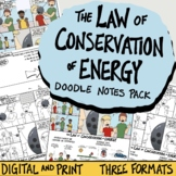 Law of Conservation of Energy Guided Notes Pack