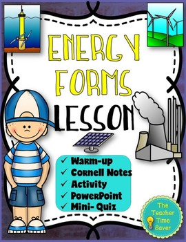 Law of Conservation of Energy Lesson (Presentation, Notes, & Activity)