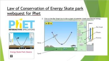 Law of Conservation of Energy Skate park webquest