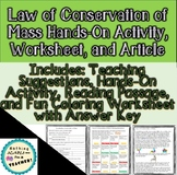 Law of Conservation of Mass Lab Reading Passage and Worksh