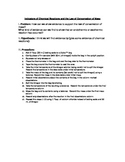 Law of Conservation of Mass Student Lab Sheet