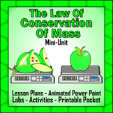 Law of Conservation of Mass Unit: 3 Lessons, Powerpoint, Labs & Printables