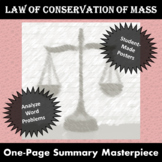 Law of Conservation of Mass One Page Summary Masterpiece