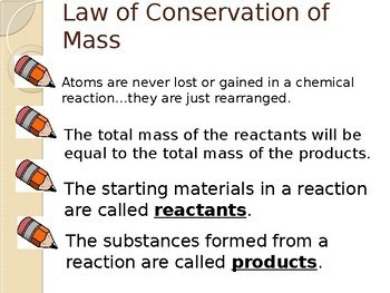 Law of Conservation of Mass PowerPoint